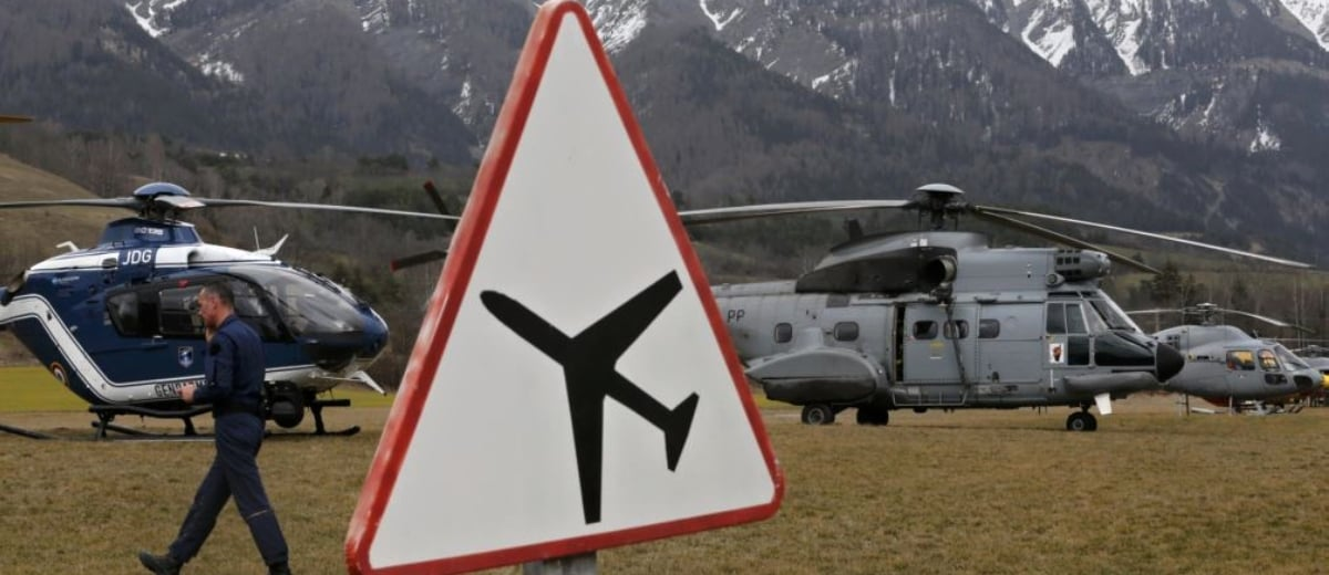 Südfrankreich Flugzeugabsturz