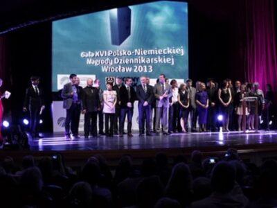 Feierliche Gala des 16. Deutsch-Polnischen Journalistenpreises in der Breslauer Oper; Nominierte und Veranstalter. Foto: Hans Scherhaufer