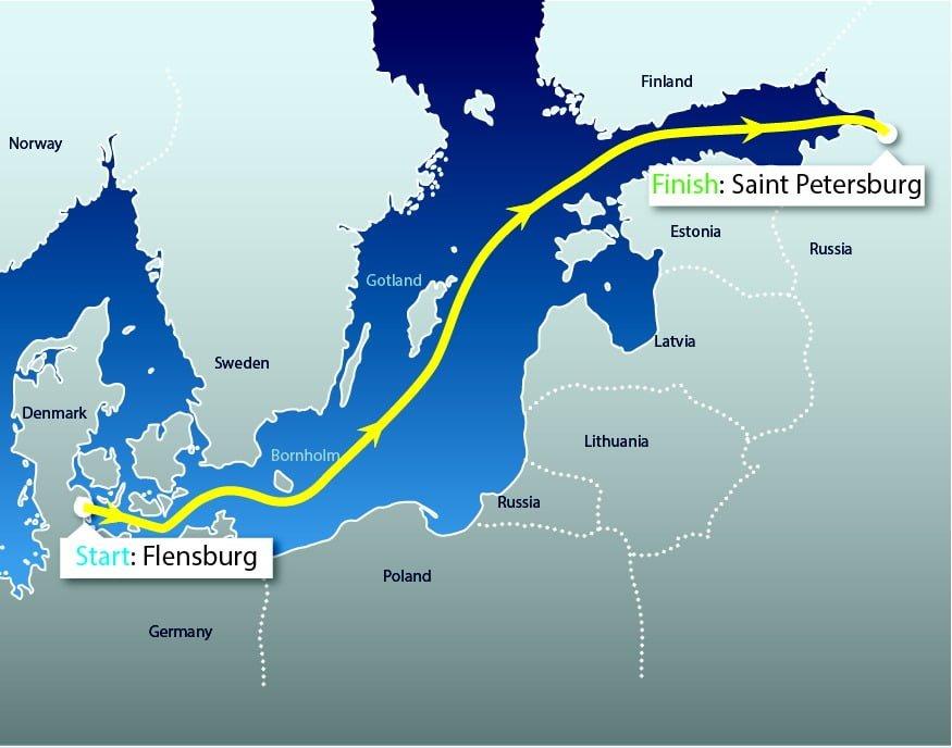 Der Kurs des Nord Stream Race 2015