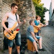 Straßenmusikanten aus Tallinn