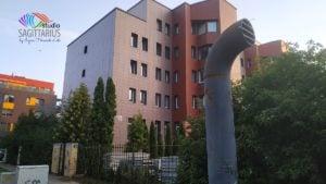 Vilnius (Litauen) : Wohngebäude nach der Renovierung im August 2019