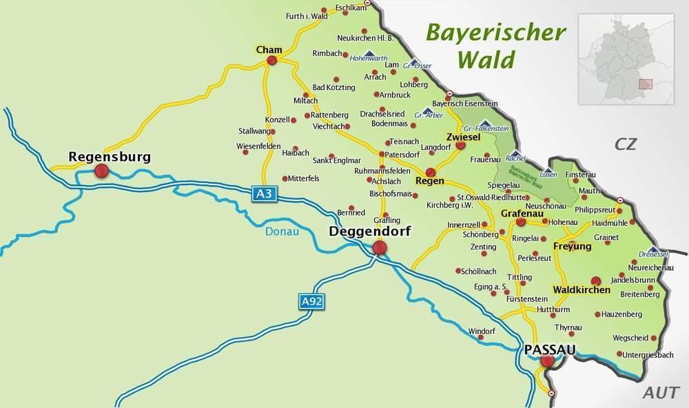 Orte in der Region Bayerischer Wald