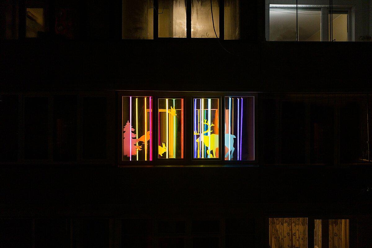 Weihnachten auf einem Balkon   von Adas Vasiliauskas