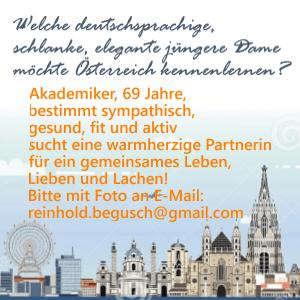 Anzeige Reinhold Begusch